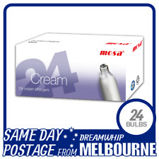 SAME DAY POSTAGE MOSA CREAM CHARGERS 24 PACK X 1 (24 BULBS) WHIPPED N2O