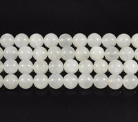 """Natural White Jade Gemstone Round Spacer Loose Beads 4mm 6mm 8mm 10mm 12mm 16"""""""