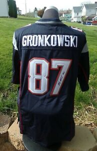 🔥 ROB GRONKOWSKI Autograph Patriots Nike On Field Youth Jersey GRONK