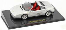 Ferrari 348 Ts Convertible Silver Scale 1:43 by Atlas