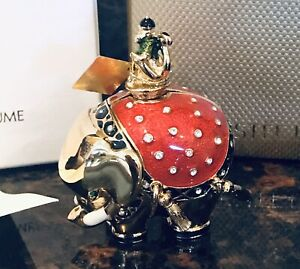 Estee Lauder Beautiful Bejeweled Elephant Perfume Compact Full