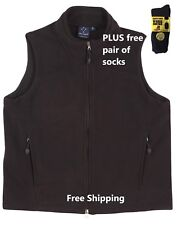 Men's Bonded Polar Fleece Vest BLACK Modern fit - PLUS free pair of socks