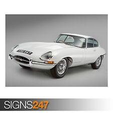 JAGUAR E-TYPE 1961 (AA882) CLASSIC CAR POSTER - Poster Print Art A0 A1 A2 A3