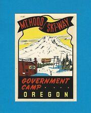 "VINTAGE ORIGINAL 1949 ""MT. HOOD SKI-WAY"" GOVERNMENT CAMP OREGON WATER DECAL ART"
