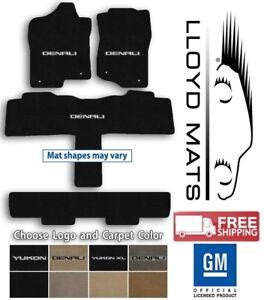 GMC Yukon - Lloyd Ulimat Carpet 4pc Floor Mat Set - Choose Color & Logo
