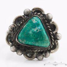 Antique Vintage Sterling Silver Native Navajo Broken Arrow Turquoise Ring! Sz 6