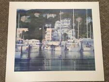 """Orig Signed Lithograph THOMAS ZARRAONANDIA Sausalito-Centennial 1990s 30x25.75"""""""