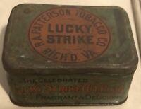 Vintage Lucky Strike RA Patterson Rich'd VA Tin