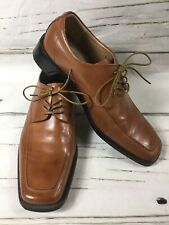 NEW Zengara Shoes Men's Size 11 M Brown Dress Leather Square Toe Lace Up NEW