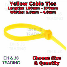 Yellow Cable Ties Various Sizes & Quantities Plastic Nylon Tie Wraps Zip Tie