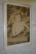 foto Ritratto bimbo seduto old photo De Rubeis Ferrara VE250 ^
