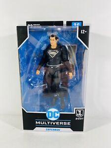 McFarlane DC Multiverse Black Suit Superman Zack Snyder Justice League 2021 New