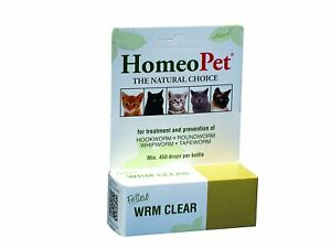 HomeoPet Feline Worm Clear 15 ml | Homeopathic Remedy for Cats