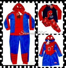 Primark Boys/kids Marvel Spiderman Fleece Pyjamas/Onesuit/Robe Pjs gift costume