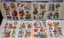8 Sheets of Multi Window Cling Christmas Decorations. 35+ Stickers