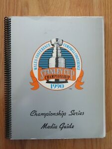 1990 STANLEY CUP CHAMPIONSHIP Series Spiral Media Guide MARK MESSIER RAY BOURQUE