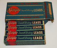 "Vintage Office SCRIPTO Smooth Writing Leads ONE DOZEN PACKS Full Box 4"" Long"