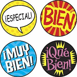 800 Palabras de Elogio Spanish School Teacher Reward Stickers - Incentive Charts