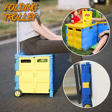 30Kg Foldable Trolley Rolling Shopping Wheels Cart Collapsible Basket Market