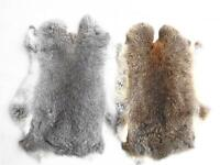 2x Real Fur Rabbit Skin Pelt Natural Tanned Hide for Animal Training Dummy Craft