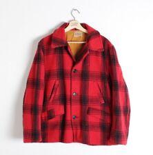 Vintage 50s JC Higgins Sears Mackinaw Wool Plaid Cruiser Hunting Jacket Sz L