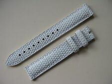 Brand New Zenith White 15mm Padded Lizard Strap No. 581 - VERY HARD TO SOURCE