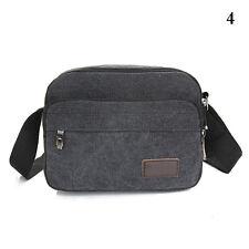 Herren Canvas Leder Schultertasche Umhängetasche Schultasche Messenger Bag