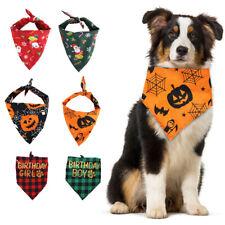 Novelty Christmas Bandanna Halloween Cute Collar Adjustable Dog/Cat Scarf Collar