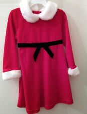 Santa Claus Red Christmas Holiday Velour Faux Fur Dress Girls Size Small 3T
