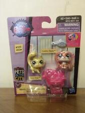 Littlest Pet Shop Pets In The City #335 Chonchita Chipley #336 Shura Styles