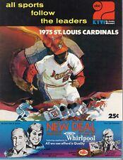 1975 Baseball program Montreal Expos @ St. Louis Cardinals, unscored ~ VG