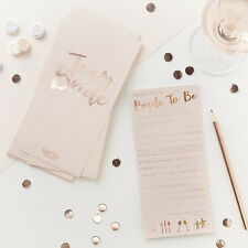 HEN PARTY ADVICE CARDS Rose Gold Advice for the Bride - Team Bride - Elegant Hen