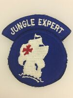 GENUINE America American U.S. Army WWII Jungle Expert sleeve patch badge