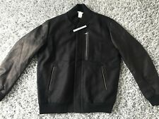 NIKE LAB MADE IN ITALY DESTROYER JACKET SMALL BLACK LEATHER S VARSITY NIKELAB