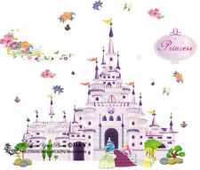 Hot 3D Wall Sticker Princess Castle Decals Vinyl Mural Princess Room Decoration