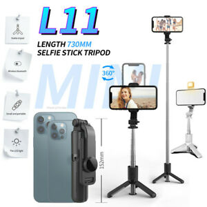 Foldable Extendable Mini Tripod With Fill Light Remote Control for Android iPhon