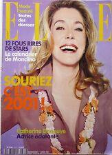 ELLE 2001: CATHERINE DENEUVE_ZAZIE_Charlotte GAINSBOURG_MADONNA