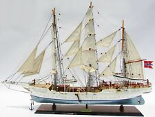 "Statsraad Lehmkuhl Tall Ship Model 36""- Handcrafted Wooden Model New"