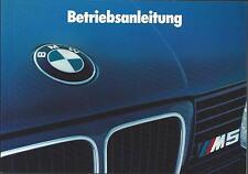BMW M5 E34S Betriebsanleitung 1989 Bedienungsanleitung   Handbuch Bordbuch BA