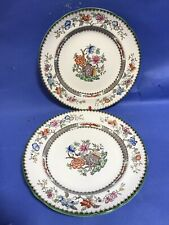 COPELAND SPODE CHINESE ROSE PATTERN LARGE TEA PLATE X 2 PLATES DINNER SERVICE