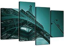 Parigi Torre Eiffel color foglia di tè IMMAGINI DI TELA Set 130cm Wide stampe XL 4014