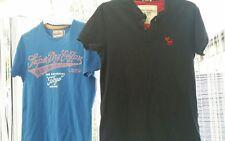 2 x Diseñador Camisetas, Abercrombie & Fitch T-shirt talla S azul (músculo), de Superdry en