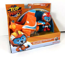 "NEW Nick Jr TOP WING 3"" Action FIGURE & VEHICLE Racer SWIFT Toy Flash Wing Car"
