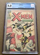 W)🔥 X-Men # 1 CGC 4.0 1st APPEARANCE Magneto Prof X Marvel Girl Cyclops Iceman
