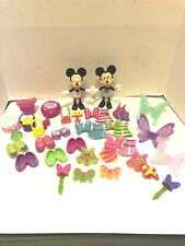 Disney Lot Of 37 Minnie Mouse Bowtique Dress Up Snap on Clothes and accessories