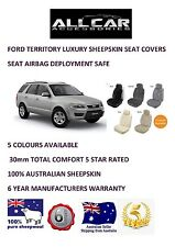Sheepskin Car Seatcovers for Ford Territory All Models, Seat Airbag safe, 30mmTC