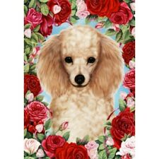 Roses House Flag - Apricot Poodle 19016