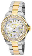 Invicta 24616 Women's MOP Dial Two Tone Steel Crystal Dive Watch