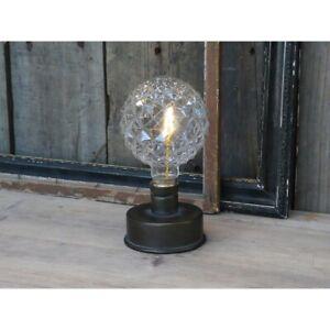 Chic Antique LED Tischlampe Glühbirne Schreibtischlampe H17 cm Batterie Leuchte