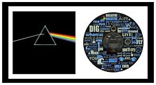 PINK FLOYD MEMORABILIA - DARK SIDE OF THE MOON  - VINYL RECORD LYRIC ART + COVER